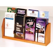 Wooden Mallet Countertop 8 Pocket Brochure Display; Medium Oak