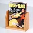 Wooden Mallet Countertop Single Pocket Magazine Display; Light Oak