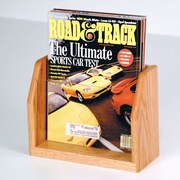 Wooden Mallet Countertop Single Pocket Magazine Display; Light Oak