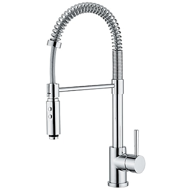 WS Bath Collections Linea One Handle Single Hole Bar Faucet w/ Pull Out Spray