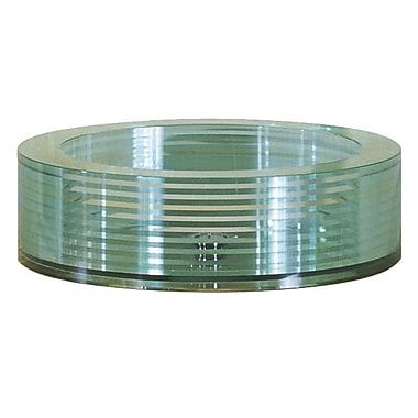 Avanity Round Tempered Segmented Glass Vessel Bathroom Sink