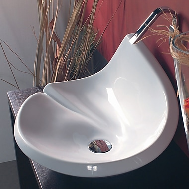 WS Bath Collections Ceramica LVA Vessel Bathroom Sink