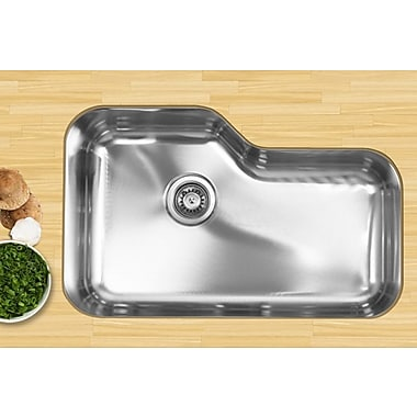 Ukinox 30'' x 17.75'' Single Bowl Undermount Kitchen Sink