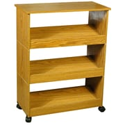 Venture Horizon VHZ Storage Mobile 3 Shelf Shoe Rack; Oak