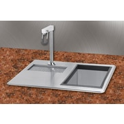 A Line by Advance Tabco 21 inch x 18 inch Water Station Kitchen Sink w/ Ice Bin by