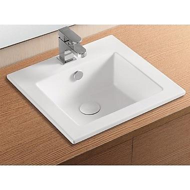 Caracalla Ceramica II Square Self Rimming Bathroom Sink w/ Overflow