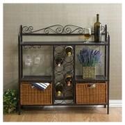 Wildon Home   Scrolled Bar w/ Wine Storage