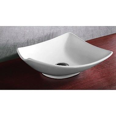 Caracalla Ceramica Square Ceramic Vessel Bathroom Sink