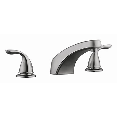 Design House Ashland Roman Double Handle Tub Faucet Trim; Satin Nickel