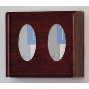 Wooden Mallet Two Pocket Glove and Tissue Box Holder; Dark Red Mahogany