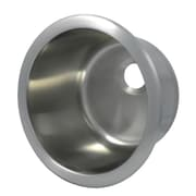 Opella 11.4'' x 11.4'' Round Bar Sink; Brushed Stainless Steel