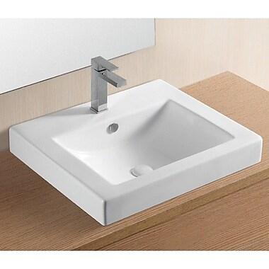 Caracalla Ceramica II Rectangular Self Rimming Bathroom Sink w/ Overflow