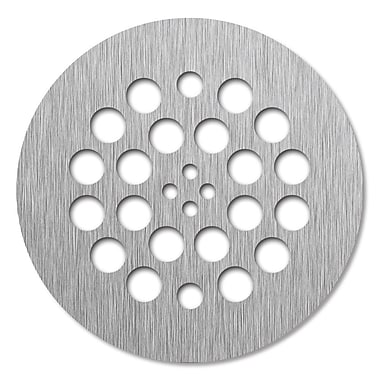 Tile Redi 4.25'' Grid Shower Drain; Brushed Nickel