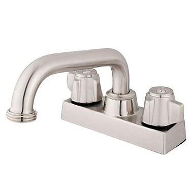 Elements of Design Centerset Bathroom Faucet w/ Double Lever Handles; Polished Chrome