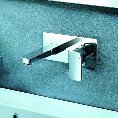 Artos Safire Wall Mounted Bathroom Faucet w/ Single Lever Handle; Brushed Nickel