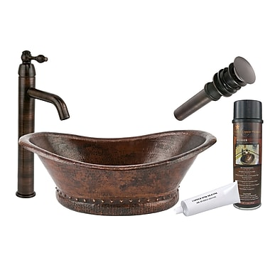 Premier Copper Products Bath Tub Vessel Bathroom Sink