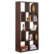 Hokku Designs Zac 71'' Bookcase; Dark Walnut
