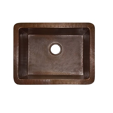 Native Trails Cocina 24'' x 18'' Copper Kitchen Sink; Antique Copper