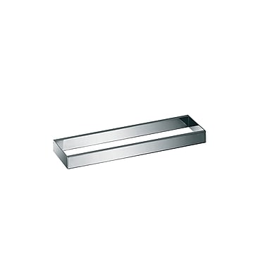 WS Bath Collections Skuara Toilet Rail/Bracket in Polished Chrome