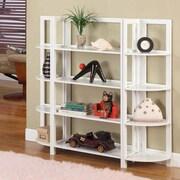 InRoom Designs 42'' Bookcase; White/White
