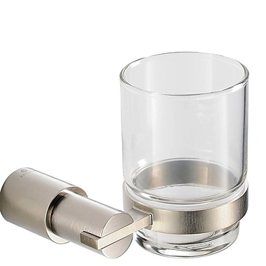 Fresca Magnifico Tumbler and Tumbler Holder; Brushed Nickel