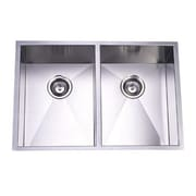 Elements of Design 29'' x 20.06'' Towne Square Undermount Offset Double Bowl Kitchen Sink