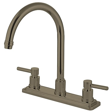 Elements of Design Concord Double Handle Kitchen Faucet; Satin Nickel