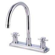 Elements of Design Concord Double Handle Deck Mount Kitchen Faucet without Sprayer; Polished Chrome
