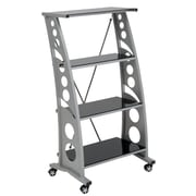 Pit Stop Furniture Racing Style 55.25'' Bookcase; Black