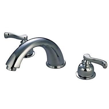Elements of Design Double Handle Deck Mount Roman Tub Faucet Trim; Chrome