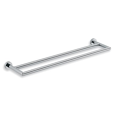 WS Bath Collections Baketo Double Wall Mounted Towel Bar