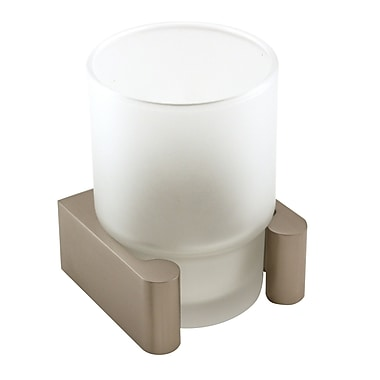 Alno Luna Counter Top Tumbler and Tumbler Holder; Satin Nickel
