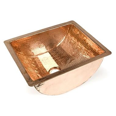 D'Vontz Plain Barrel Undermount Bathroom Sink; Shiny Copper