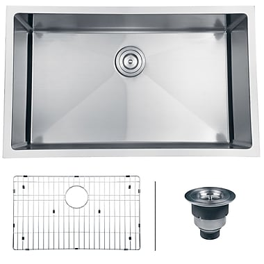 Ruvati Gravena 30'' x 18'' Undermount Single Bowl Kitchen Sink