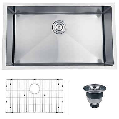 Ruvati Gravena 32'' x 19'' Undermount Single Bowl Kitchen Sink
