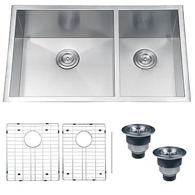Ruvati Nesta 32'' x 20'' Undermount Double Bowl Kitchen Sink