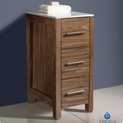 Fresca Torino 12'' x 31.1'' Bathroom Linen Side Cabinet; Walnut Brown