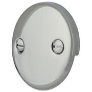 Elements of Design 2 Hole Round Plate w/ Screw; Polished Chrome