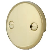 Elements of Design 2 Hole Round Plate w/ Screw; Polished Brass