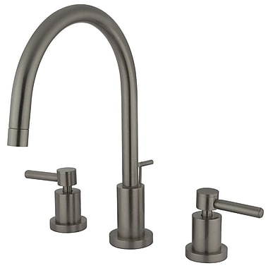 Elements of Design Concord Double Handle Single Hole Widespread Bathroom Faucet; Satin Nickel