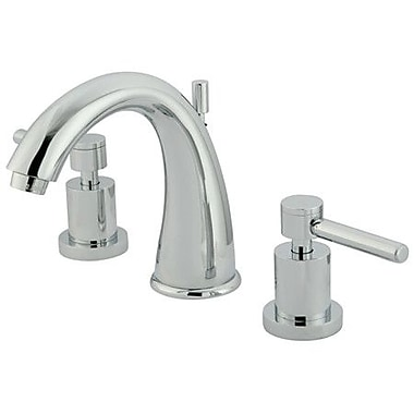 Elements of Design South Beach Double Handle Widespread Bathroom Faucet; Polished Chrome