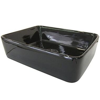 Elements of Design French Petite Vessel Bathroom Sink; Black