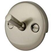 Elements of Design 2 Hole Round Solid Brass Plate w/ Screw; Satin Nickel