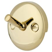 Elements of Design 2 Hole Round Solid Brass Plate w/ Screw; Polished Brass