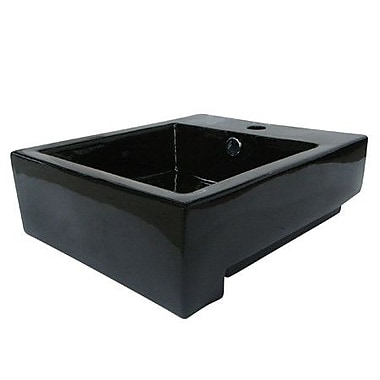 Elements of Design Citadel Wall Mount Bathroom Sink; Black