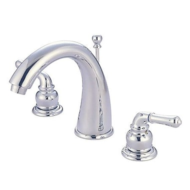Elements of Design St. Charles Widespread Bathroom Sink Faucet w/ Double Lever Handles; Chrome