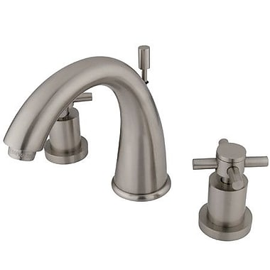 Elements of Design South Beach Double Cross Handle Widespread Bathroom Faucet; Satin Nickel