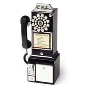 Crosley 1950's Classic Black Pay Phone
