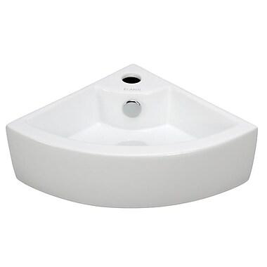 Elanti Porcelain Wall Mounted Corner Sink