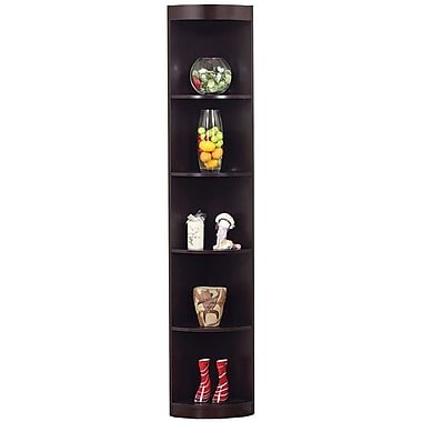 Hokku Designs 76.75'' Tray Corner Bookcase